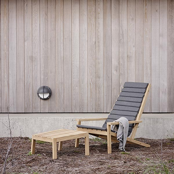 a little extra cushion for comfort: between lines deck chair with cushion and stool (cushion color: ash)