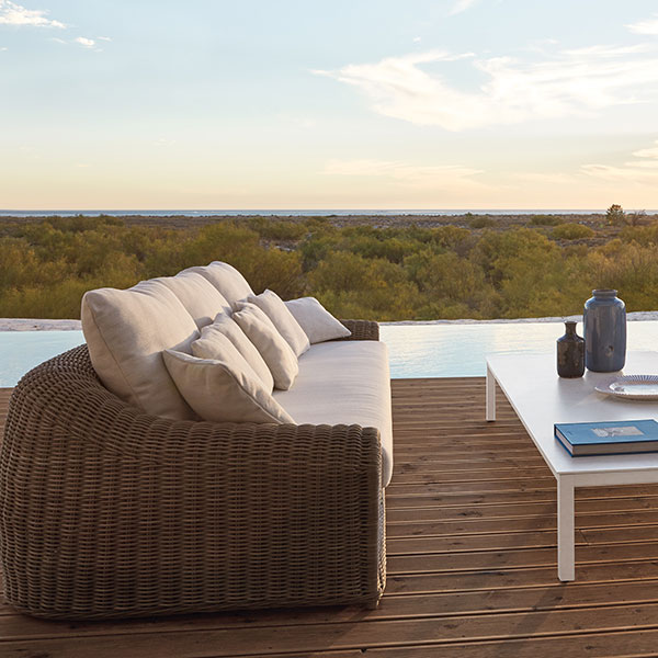 relax in extra deep-seating cushions: river 3-seater with two river 1-seater chairs