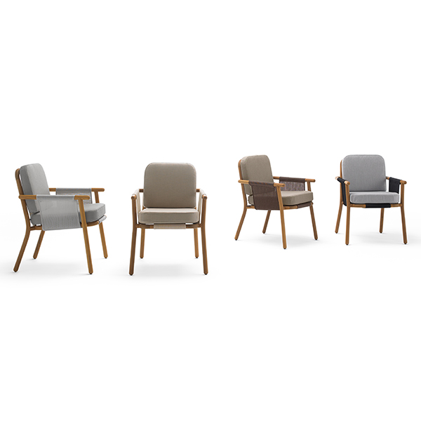all configurations in one view: hamp dining armchair with batyline seat and back (batyline finish: left-right), silver, pebble, bronze, and anthracite