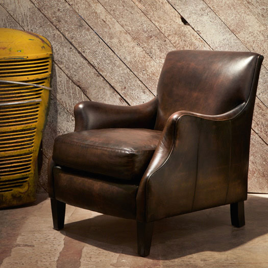 heavy-duty leather chair: tribeca
