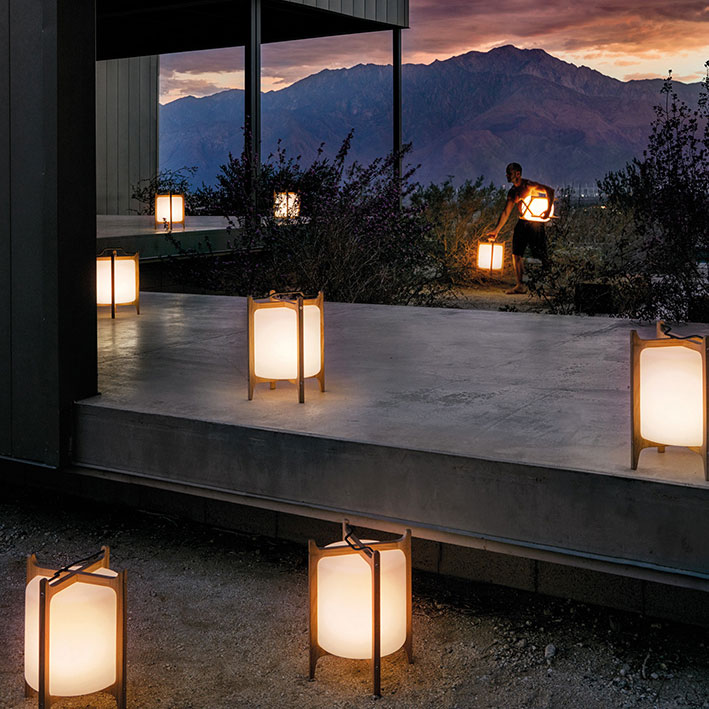 gloster ambient lanterns strategically placedimage provided courtesy of gloster furniture, inc.