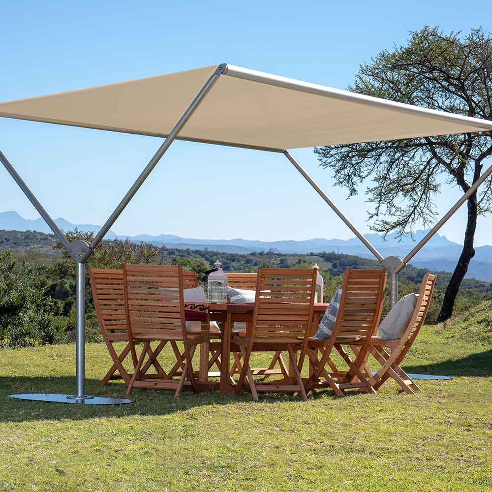 sky shade is perfect for outside dining for 8-10 people