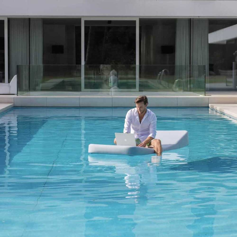 working before play: jackie regular floating lounger