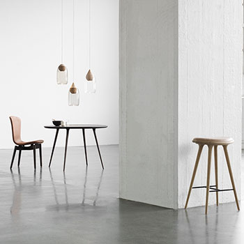 sleek dining: ultra brandy dining chair with sirka gray legs and base