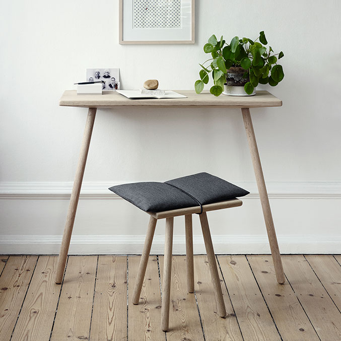 georg console table paired with georg stool (cushion included)