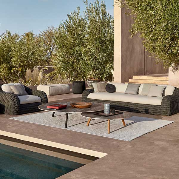 in harmony with nature: kobo 3-seater sofa paired with two kobo 1-seaters (anthracite rope)