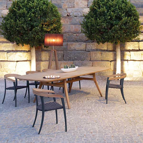 "mix & match: jive chairs with royal botania's zidiz extendable table (86.5-126"")"