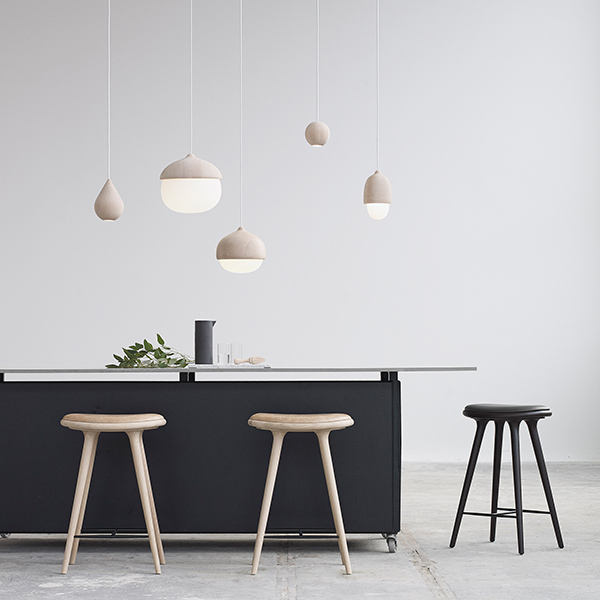 playful set up: mix and match shapes and sizes of the terho pendant lights