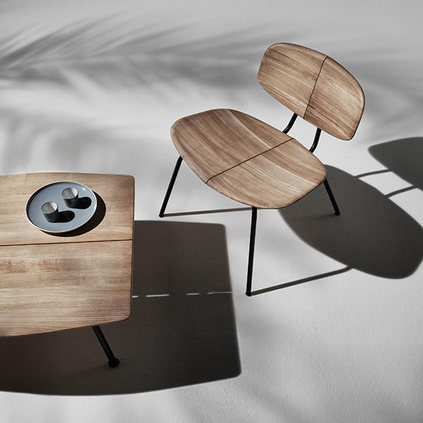 "making shapes in shadows: agave lounge chair with 26"" coffee table"