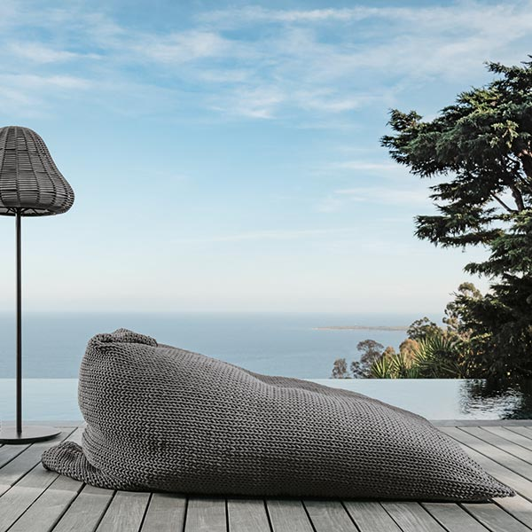 slanted rest: talenti's jackie bean bag available in three colors