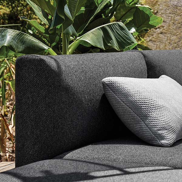 beautiful fabric makes all the difference: gloster maya outdoor lounge seatingimage provided courtesy of gloster furniture, inc.