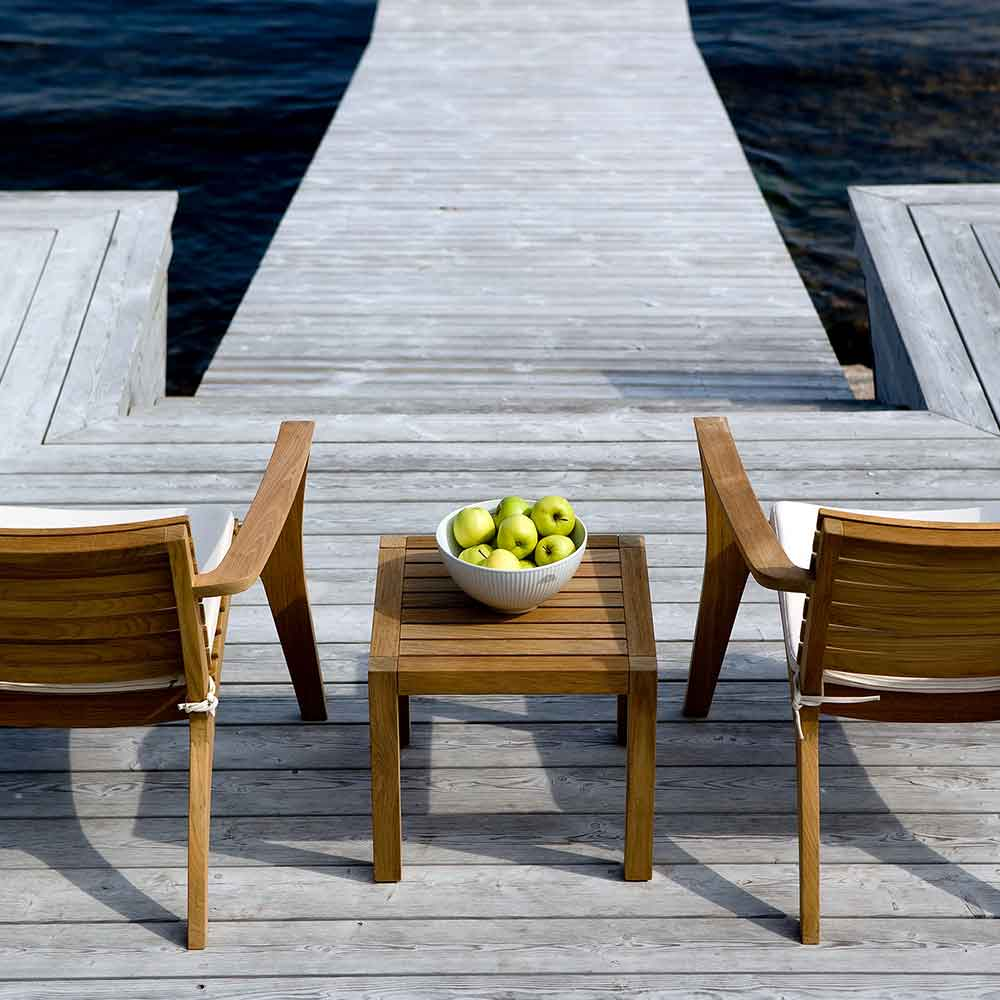 lake view: backside of two regatta lounge chairs (seat cushions optional; four colors)