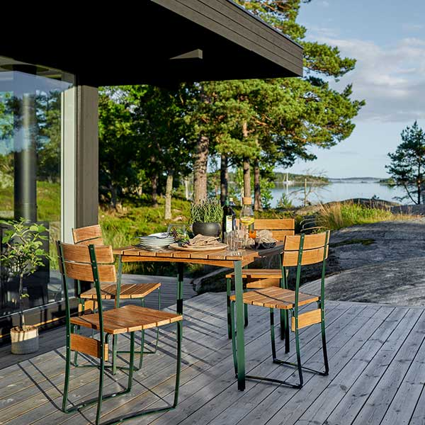 """late lunch: four kerteminde chairs with 32"""" kerteminde table"""