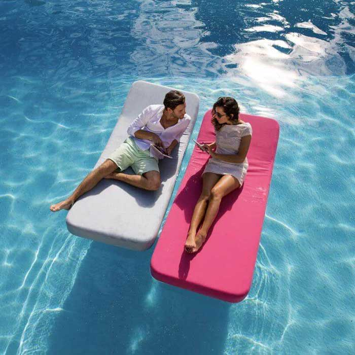 luxury side by side: two jackie regular floating loungers