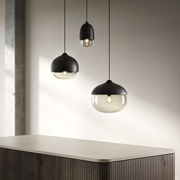different heights and shapes: terho pendant lights