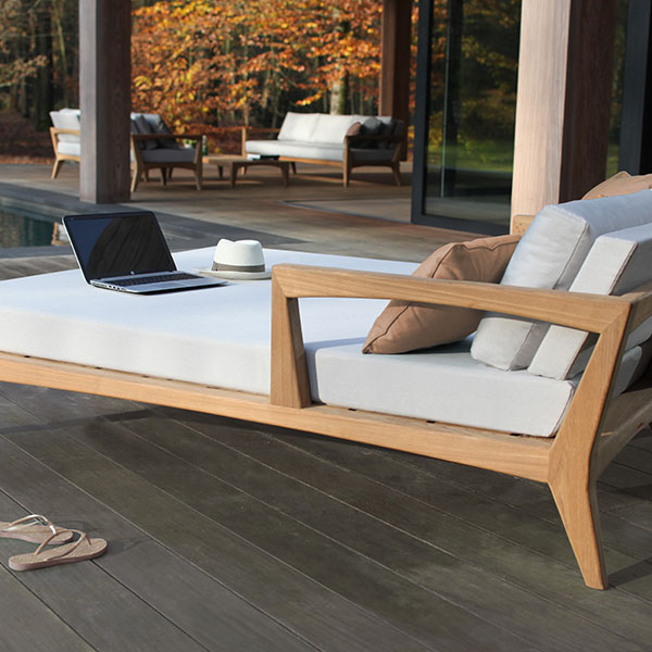 lounge and work remotely: zenhit daybed module left (throw pillows optional)