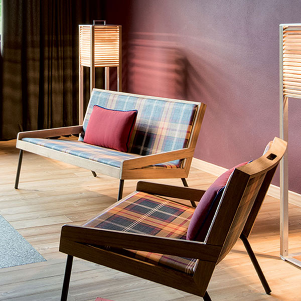 cozy up your living room: allaperto mountain tartan 2-seater sofa paired with allaperto mountain tartan lounge chair