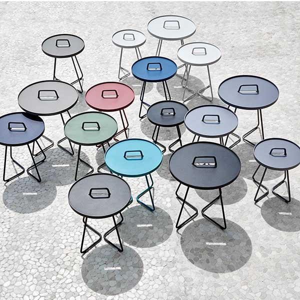 as far as the eye can see: on-the-move round side tables