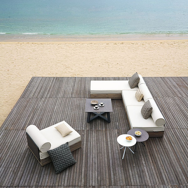mix & match: aiko lounge armless modules and lounger with mono square table and bono side tablesimage provided courtesy of mamagreen, llc.