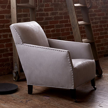 timeless style: cisco home's trinidad chair upholstered in marvell silver