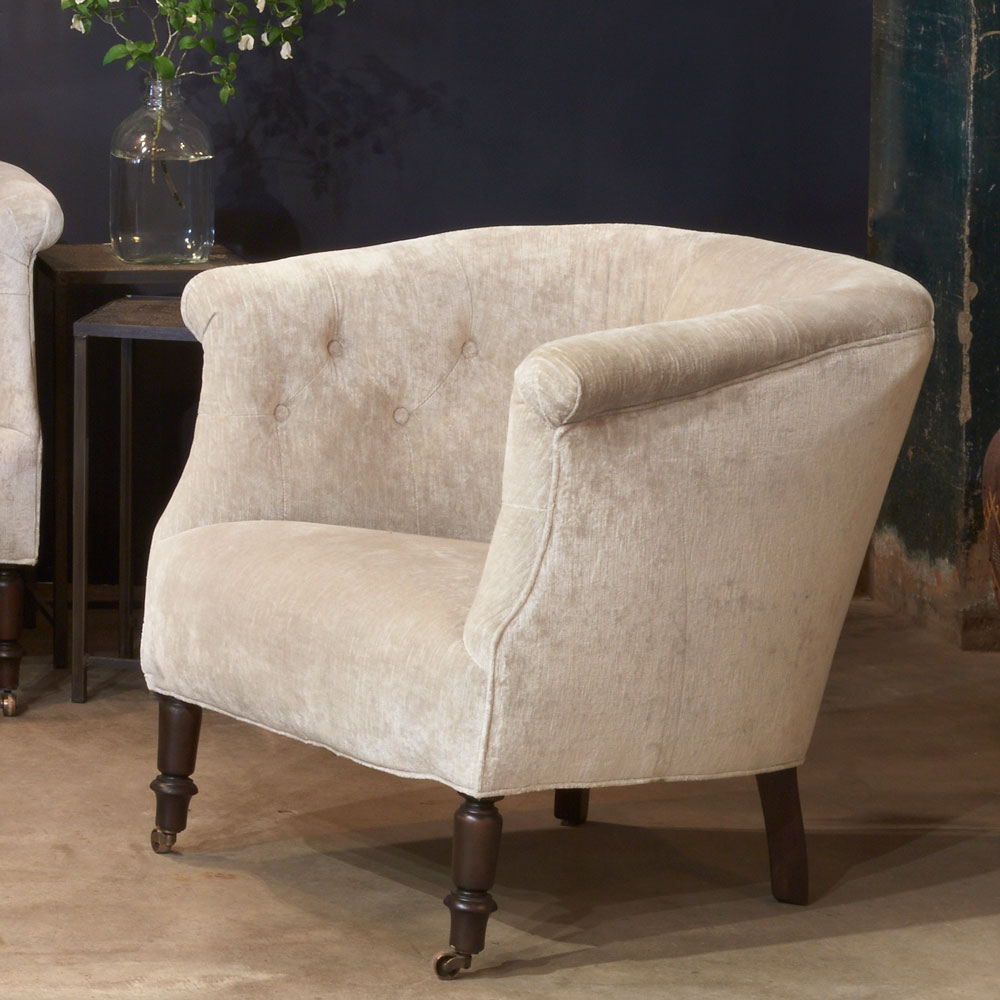 the regal madeline chair with antique caster front leg