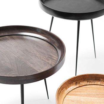 mater bowl table finishes: black, sirka gray and natural