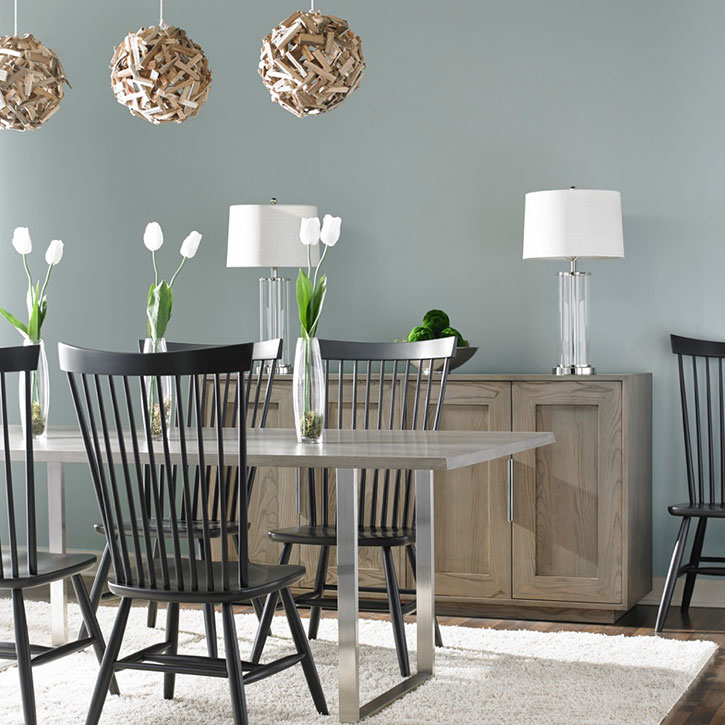 st. blane dining table in finish ash flannel gray