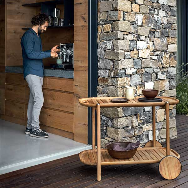 """a perfect essential for your home: standards 41"""" bar cartimage provided courtesy of gloster furniture, inc."""