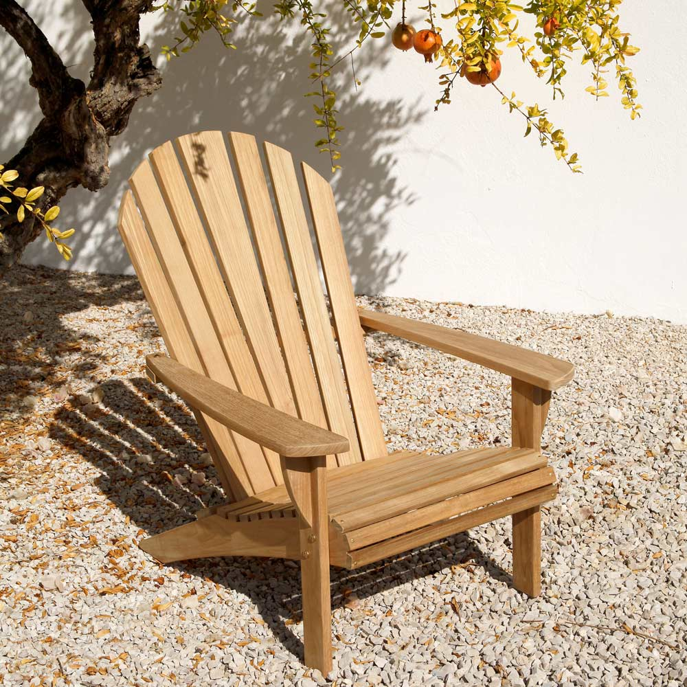 relaxing in the orchard: adirondack chair