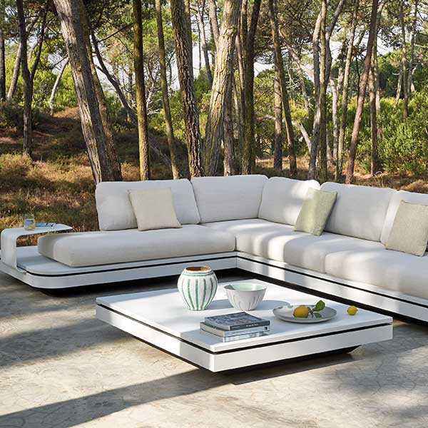 relax in the elements: concept 1 with large footstool, coffee table and side table