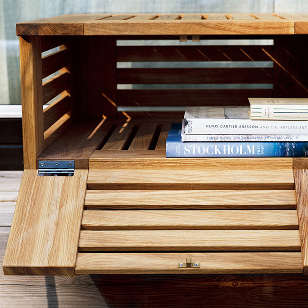 hidden storage: all skanor's lounge and side tables come with a hidden compartment (quick ship)