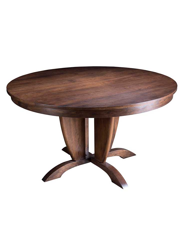 splendid pedestal style round table shown in finish cherry derby
