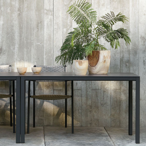 decorative: two quarto square dining tables with echo chairs