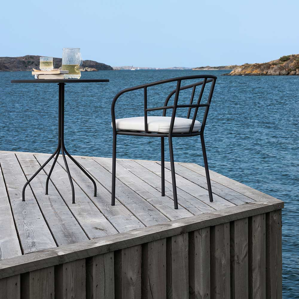 seaside happy hour: salto dining chair and dining table (wine not included)