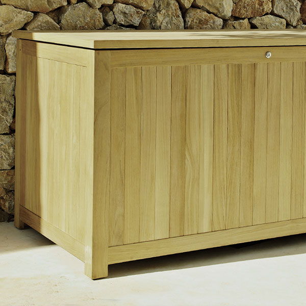 gloster standards cushion/ storage chest (lockable)image provided courtesy of gloster furniture, inc.