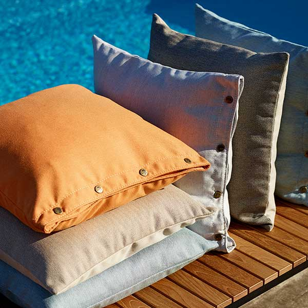 fresh color palette: skargaarden's ava pillows (with copper buttons) and larbo pillows (without buttons | sorry larbo pillows have been discontinued)