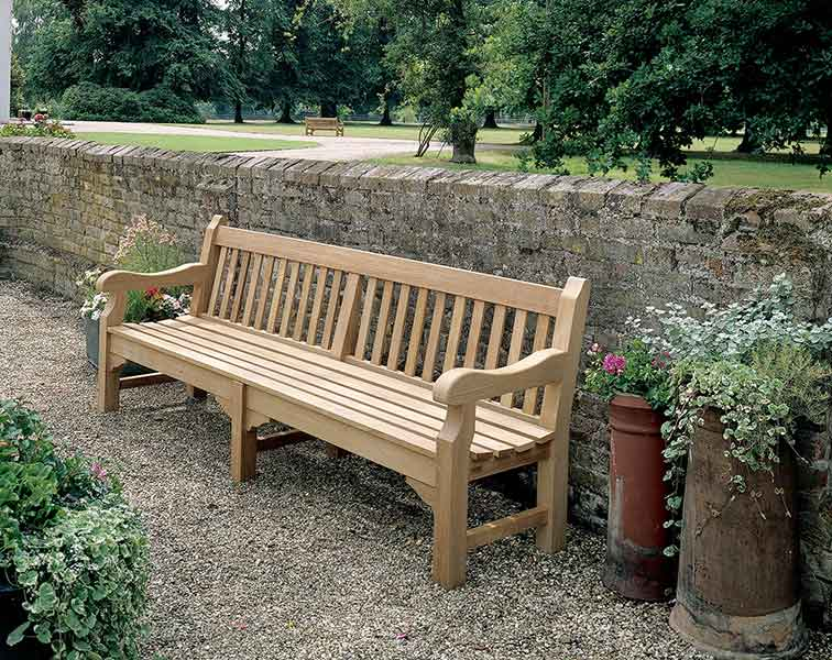"""solid seat: rothesay 94"""" bench from barlow tyrie"""