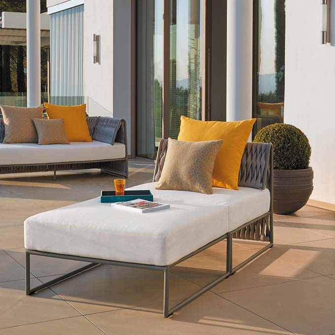 stretch out: kalife lounge chair w/o arms staged w/ ottoman