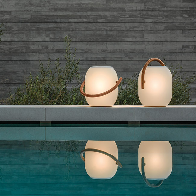 two gloster ambient cocoons next to your poolsideimage provided courtesy of gloster furniture, inc.