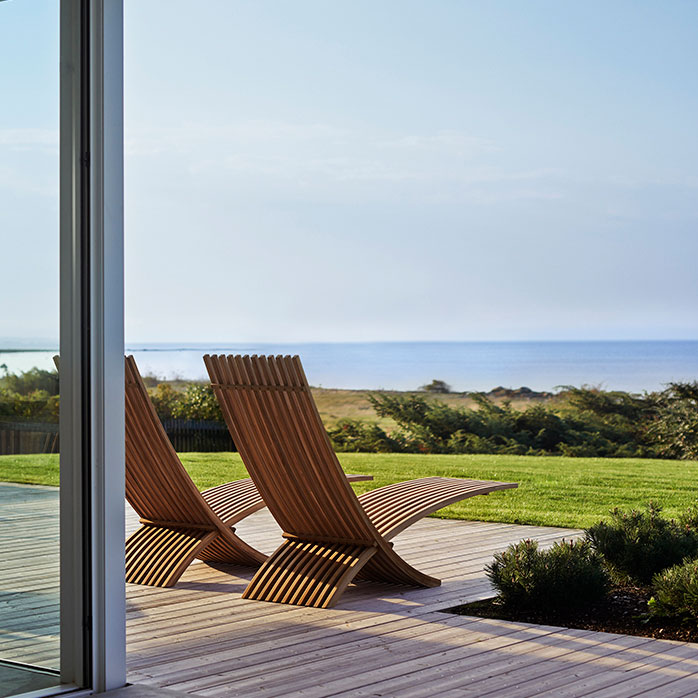 look as well from the back as from the front: nozib sun loungers