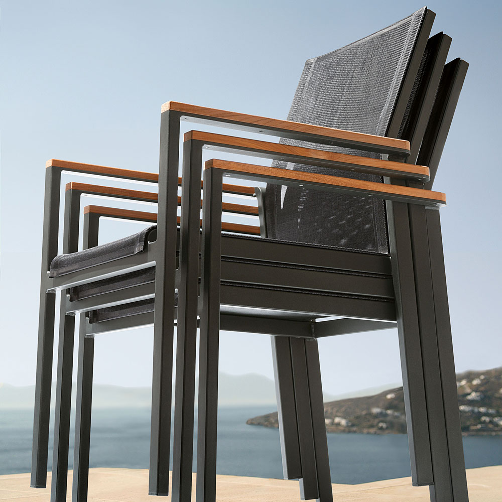aura stacking armchair: stackable up to four pieces