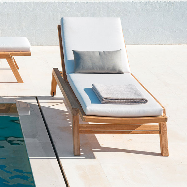 sunbath by the pool: costes sun lounger w/ wheels