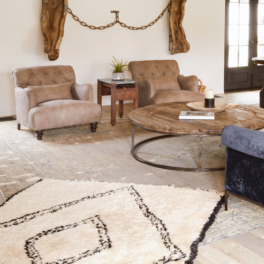 mix and match acacia with different shapes, patterns, and textures