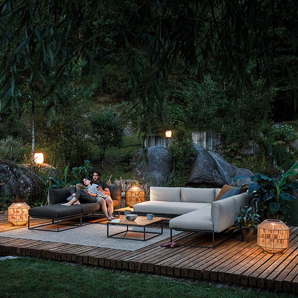 welcome to the island: gloster maya durable outdoor lounge collectionimage provided courtesy of gloster furniture, inc.