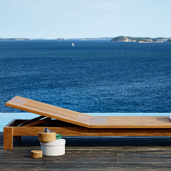 bare beauty: skargaarden skanor sun lounger; also available with cushion (six different colors | upcharge applies)