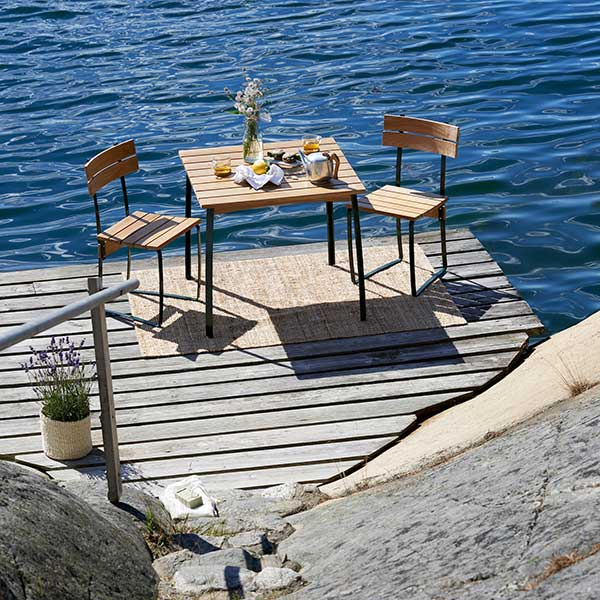 """dining by the sea: two kerteminde chairs with 32"""" kerteminde table"""
