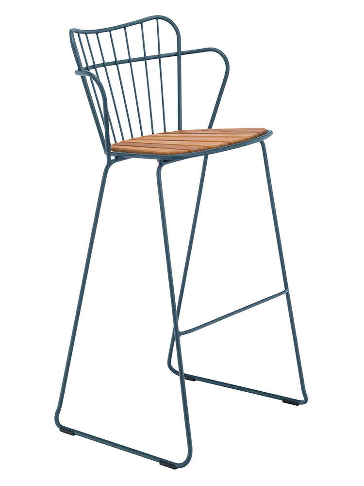 Frame Powder-Coated Solid Steel, Midnight Blue | Seat Bamboo Lamellas