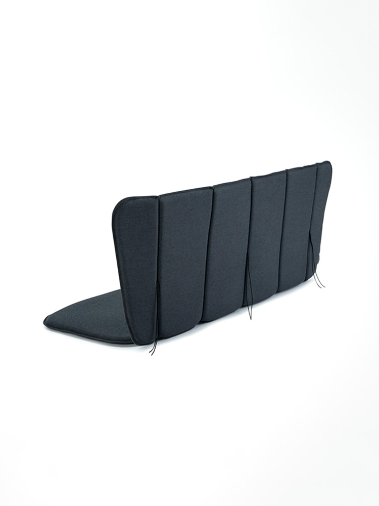 Back View: Cushion Fits Paon Bench (outdoor fabric)