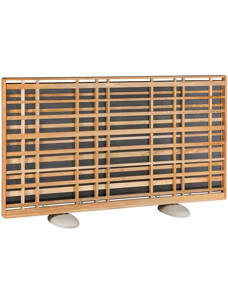 "90""W x 52""H Woodland Teak Screen 