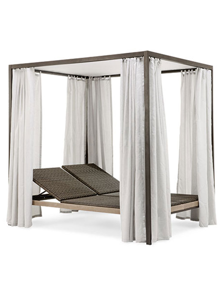 Allaperto Mountain Etwick Lounge Bed with Curtains | Optional: 2 Mattress Cushions